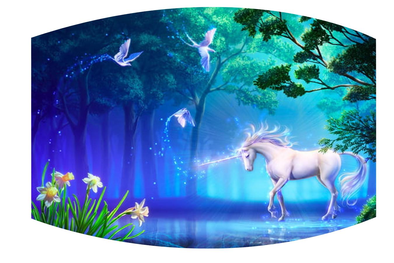 Fantasy unicorn Face Mask