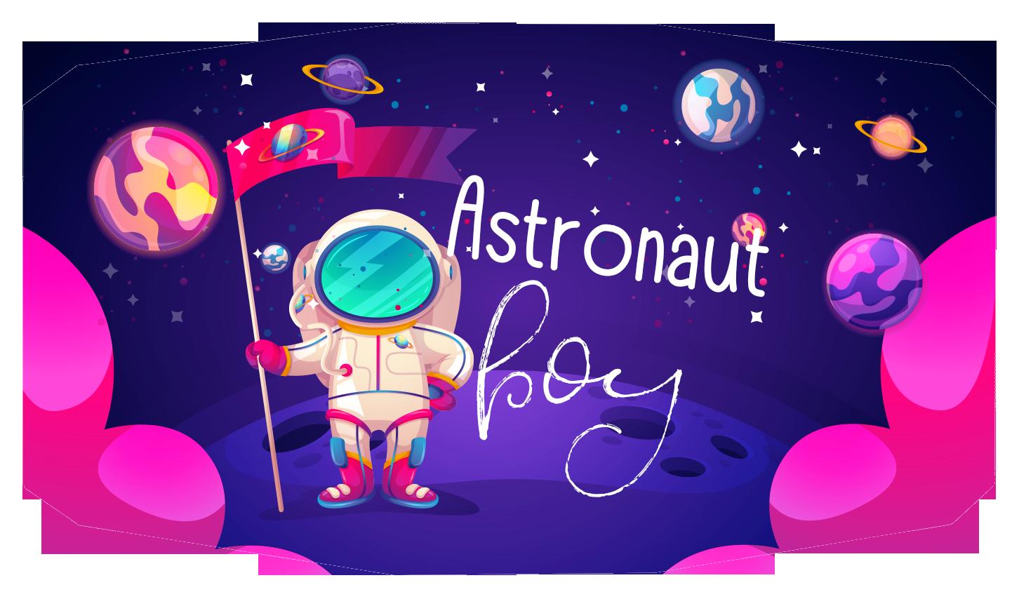 Astronaut Boy Face Mask