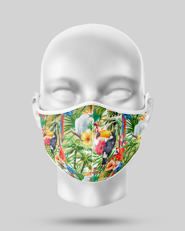 Tropical Birds Face Mask
