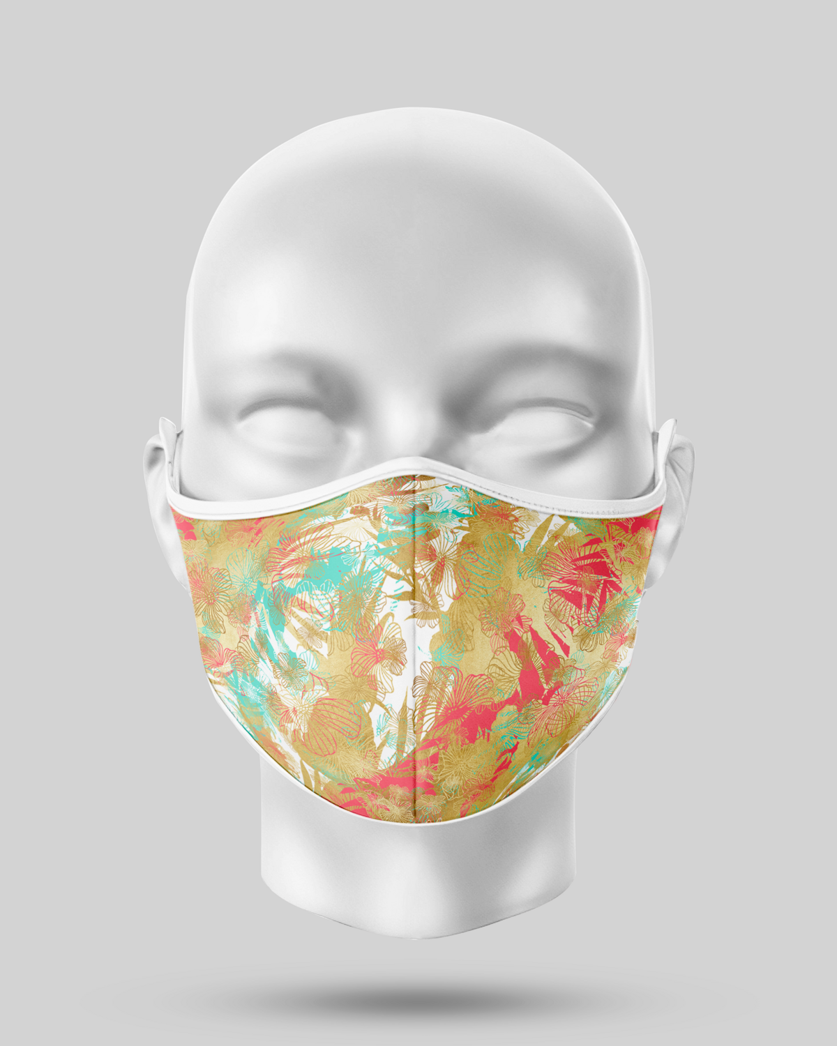 Tropical Bronze leaves Face Mask
