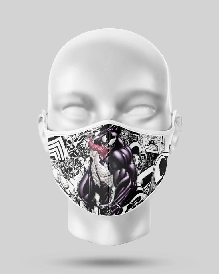 Venom Comic Face Mask