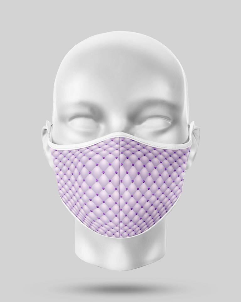 Purple Pearl Face Mask