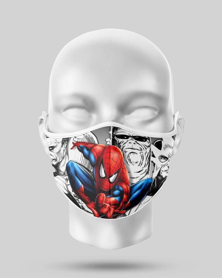 Spiderman Comic Face Mask
