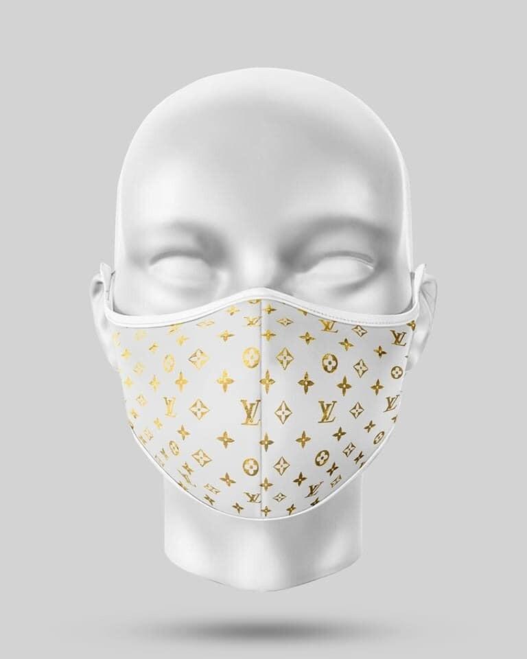 Gold LV  Face Mask