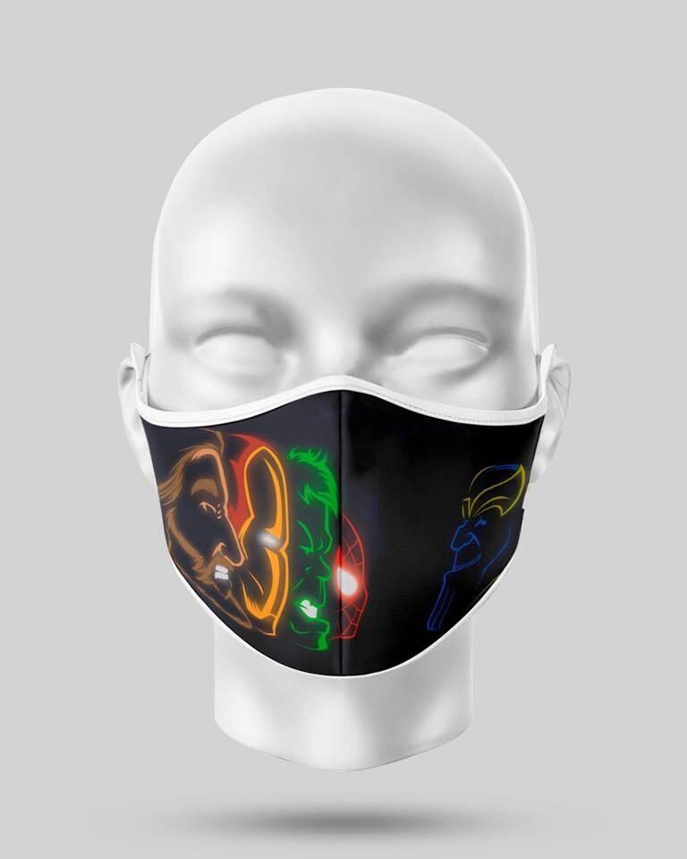 Neon Avengers Face Mask