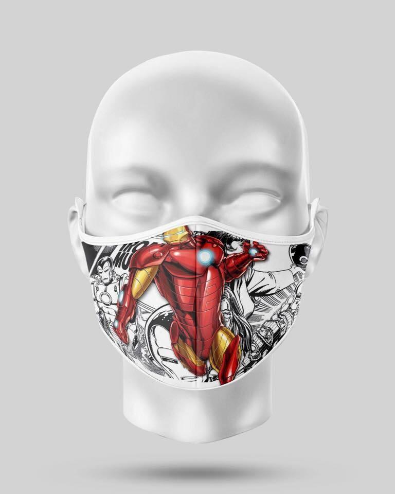 Iron Man Comic Face Mask