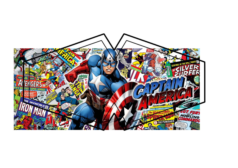 Captain America Comic Face Mask