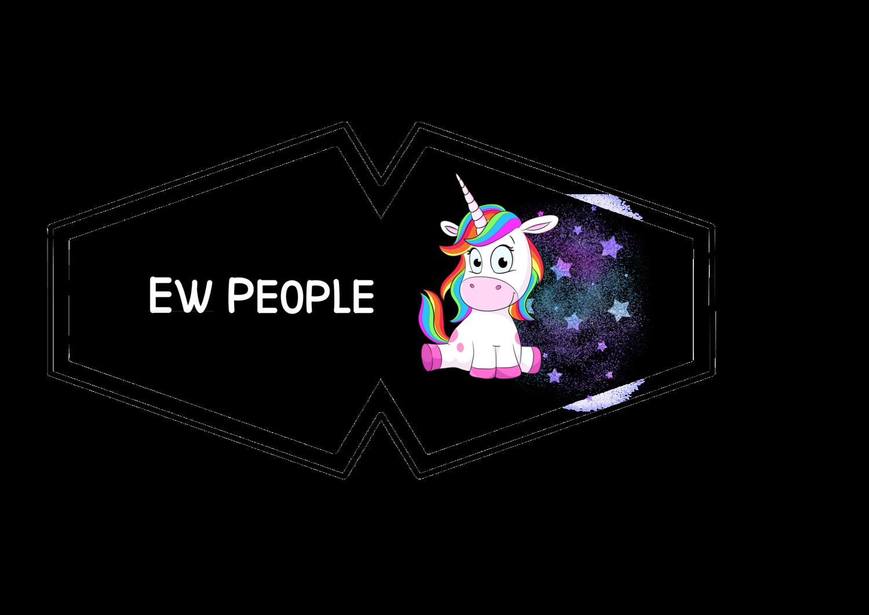 Ew People Unicorn Face Mask