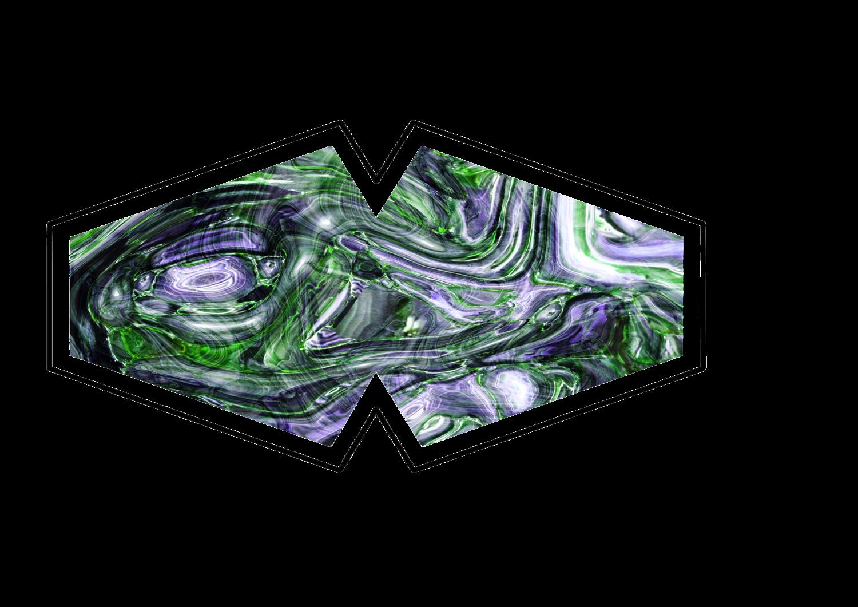 Green Swirl Face Mask