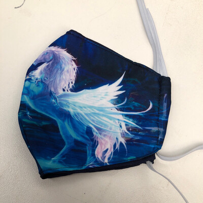 Blue Unicorn ADULTS SIZE Face Mask