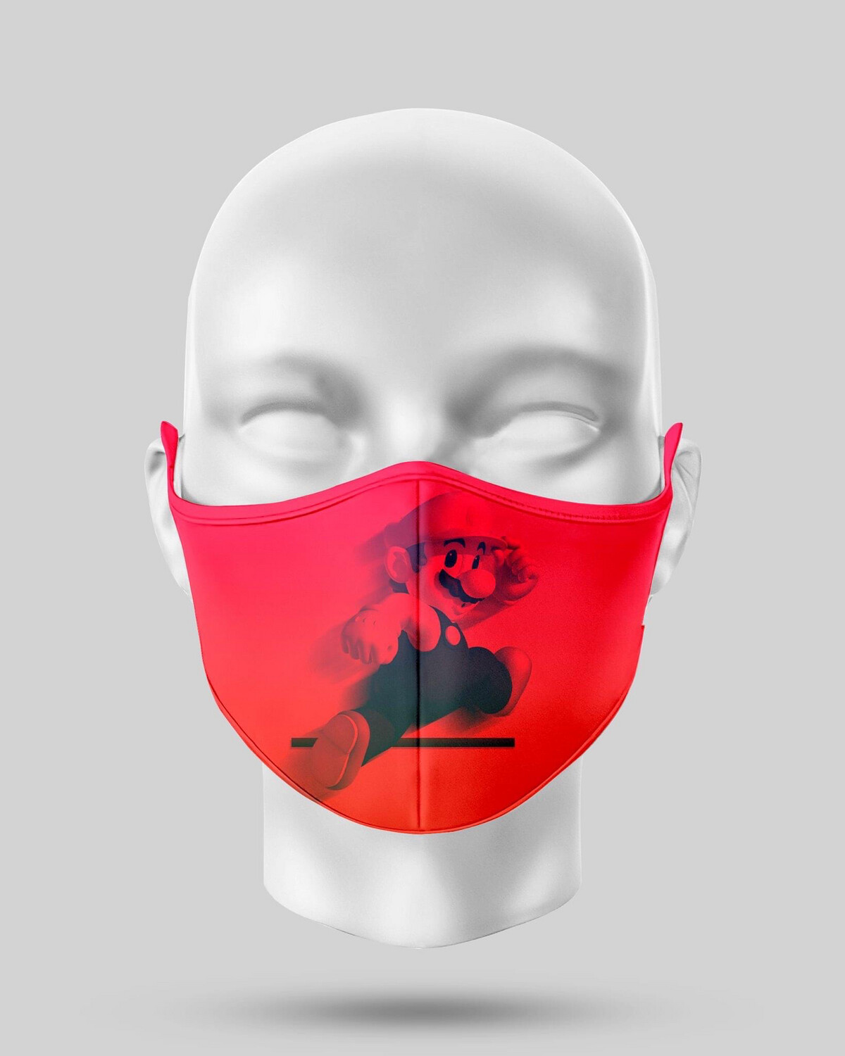 Red Mario Face Mask