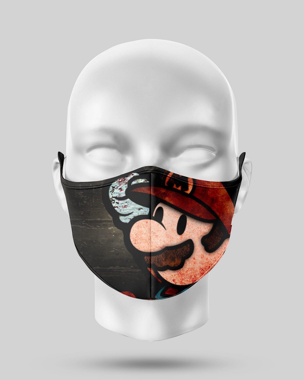 Vintage Mario Face Mask