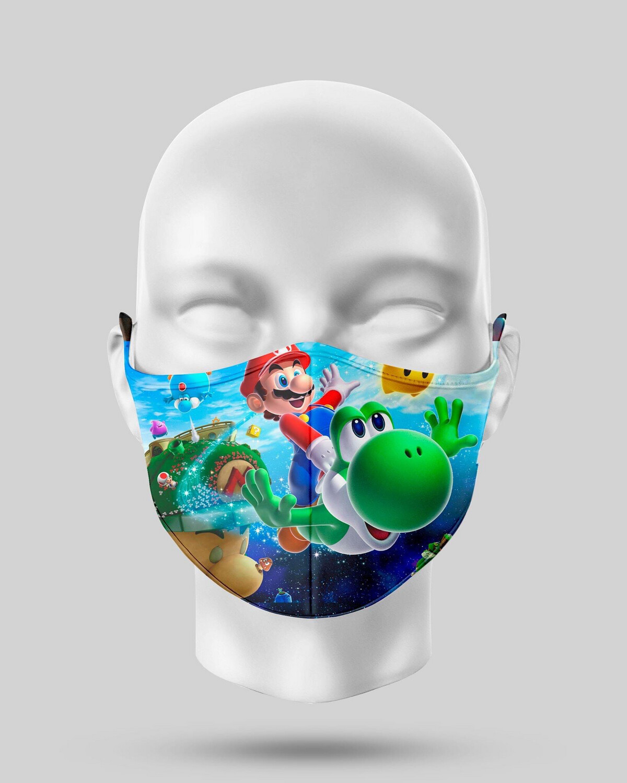 Mario And Yoshi Face Mask