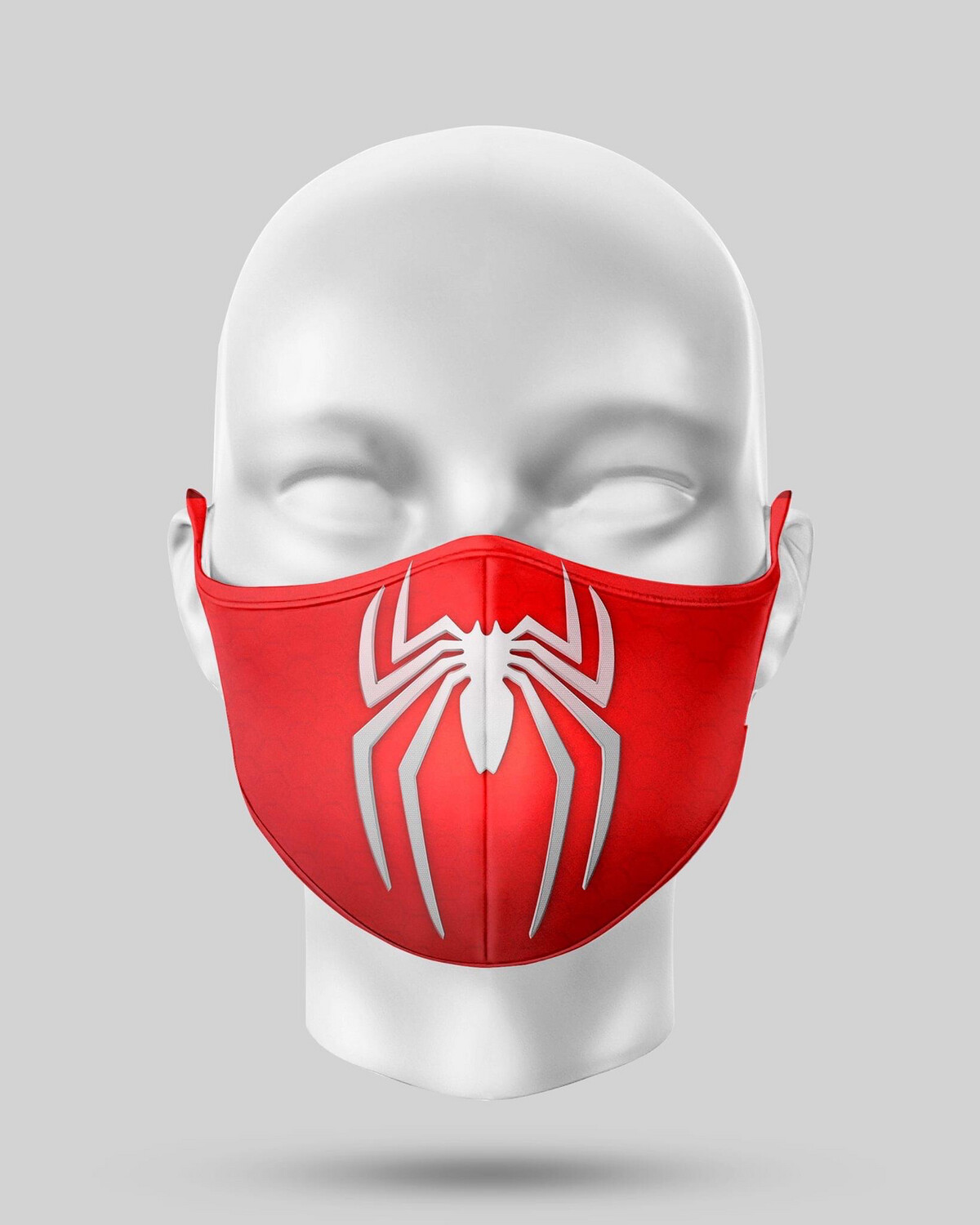 Red Spidey Logo Face Mask