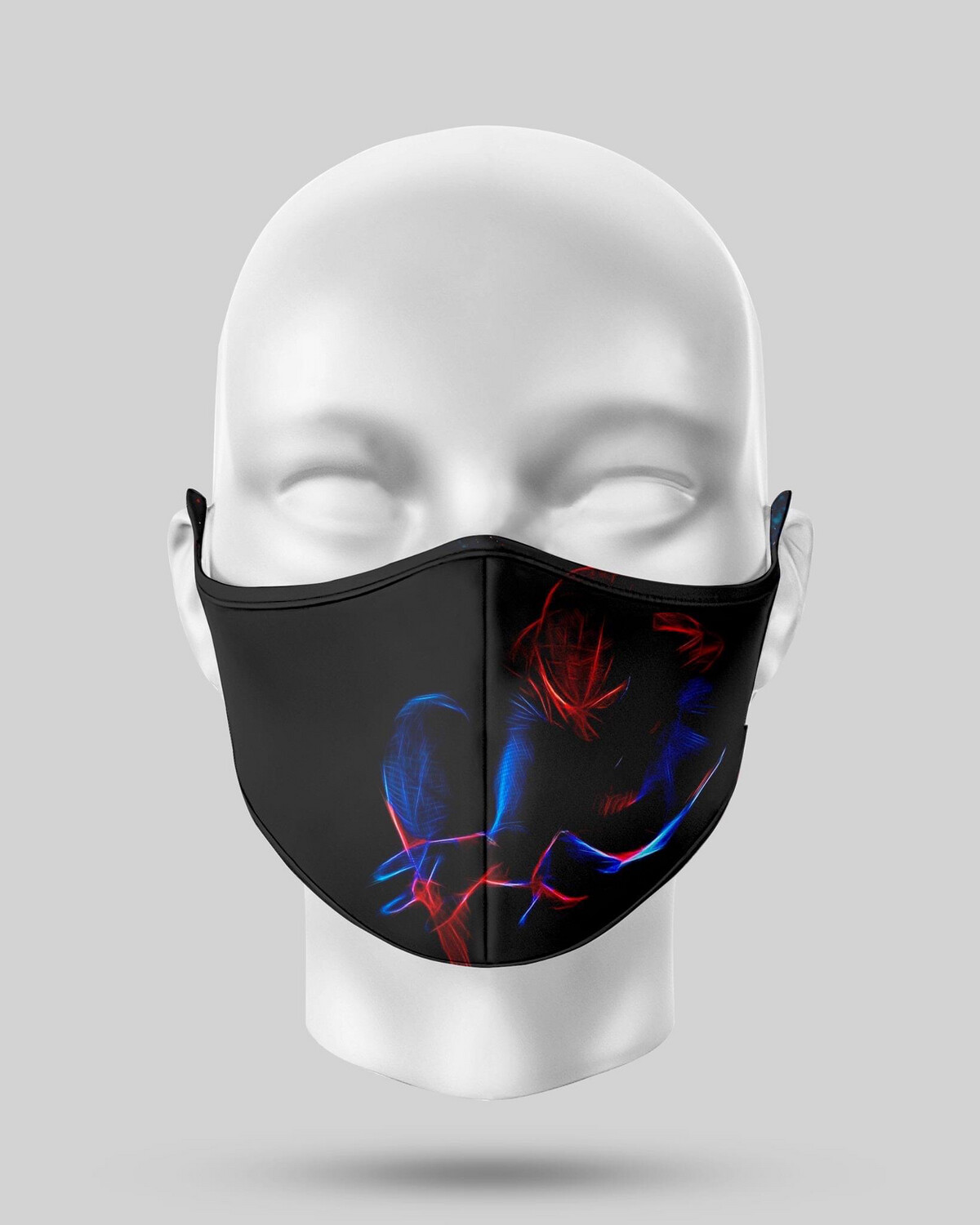 Neon Spider-Man Face Mask
