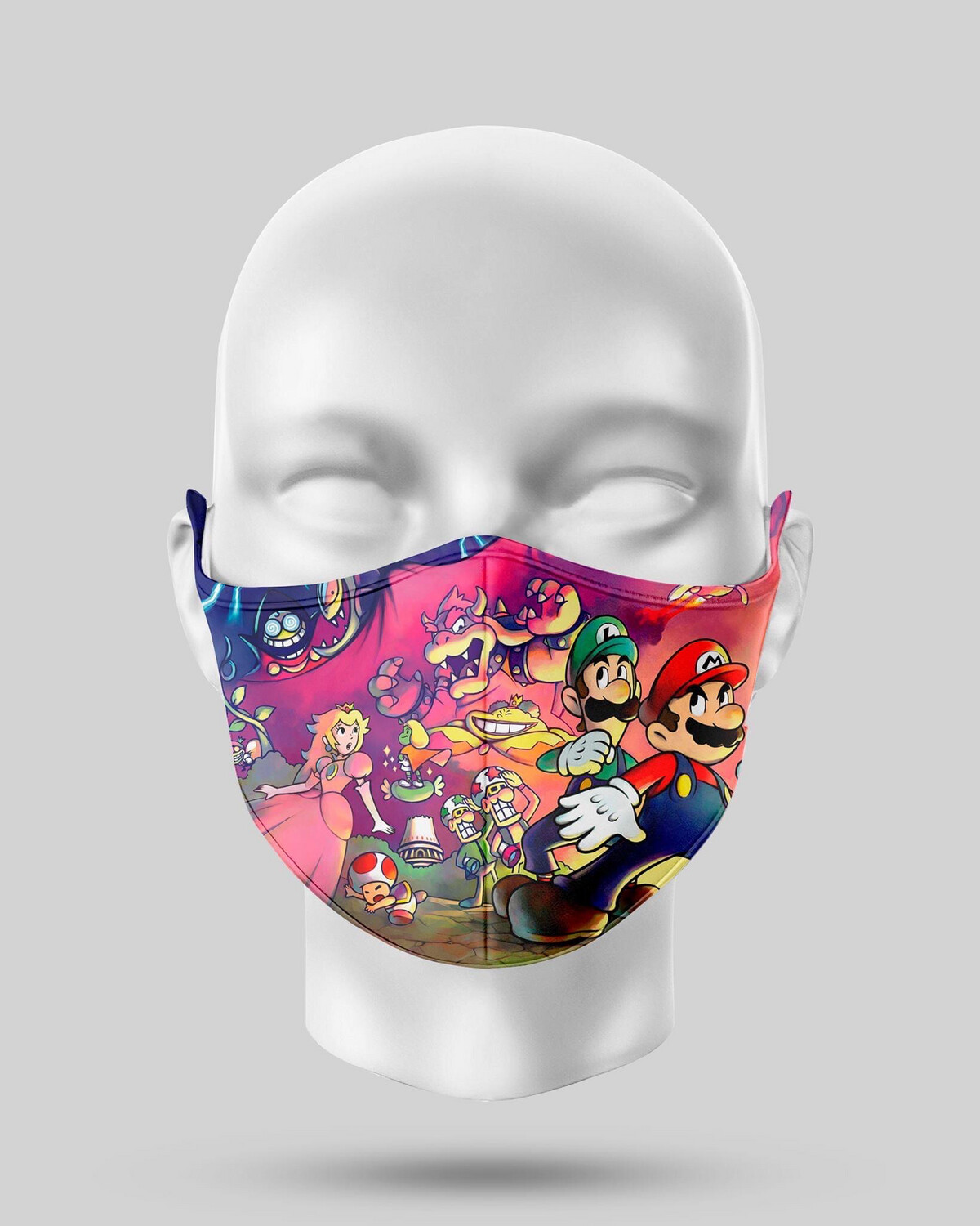Mario Characters Face Mask
