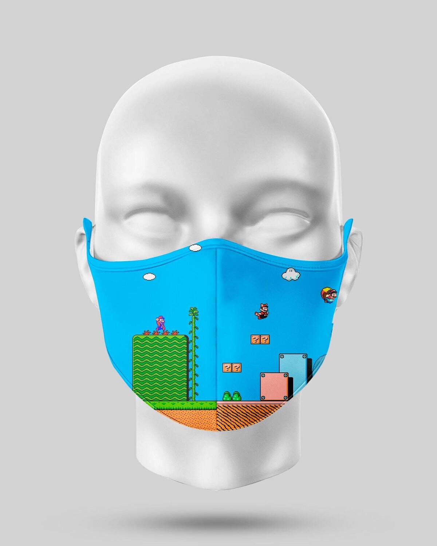Super Mario Game Face Mask