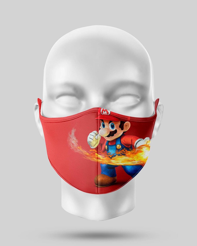 Flaming Mario Face Mask