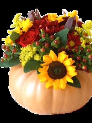 Fall Floral Pumpkin Centerpiece PRE ORDER