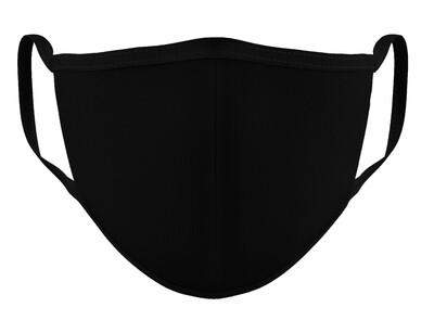 Pack de 5 cubrebocas varios colores negro y gris.
