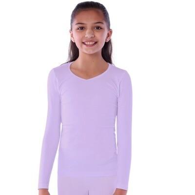 Playera térmica Juvenil Niña, cuello V - Edades de 12 a 16 años