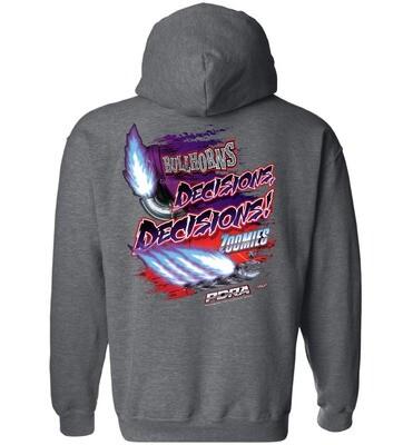 Bullhorns or Zoomies Design Hooded Sweatshirt