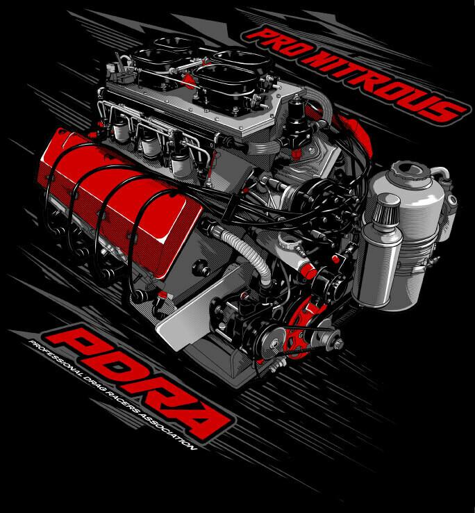 Nitrous Engine Design T-Shirt