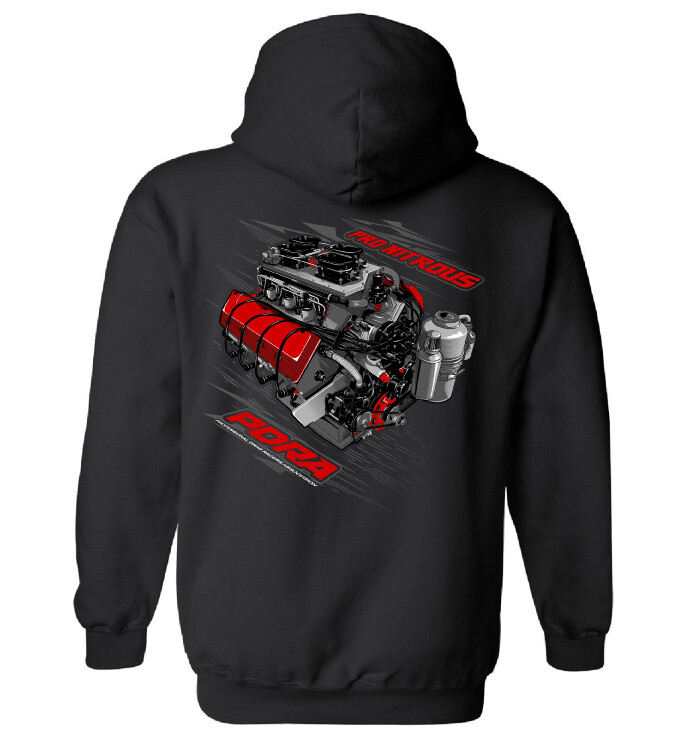 Nitrous Engine Design Hooded Sweatshirt