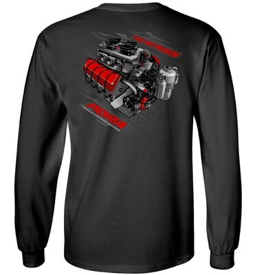 Nitrous Engine Design Long Sleeve Shirt