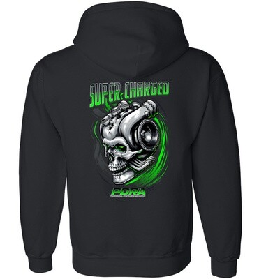 Supercharged Engine Design Hooded Sweatshirt