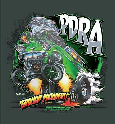 """57 Chevy """"Ground Pounders"""" Design T-Shirt"""