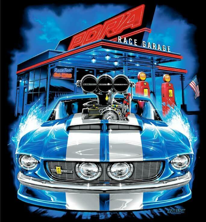 Mustang Race Garage Design T-Shirt