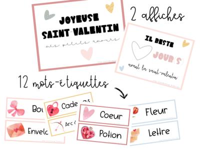 Affiches et mots-étiquettes - Saint-Valentin