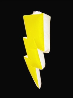 Hanging Inflatable Lighting Bolt 6ft/182cm x 2.6ft/80cm