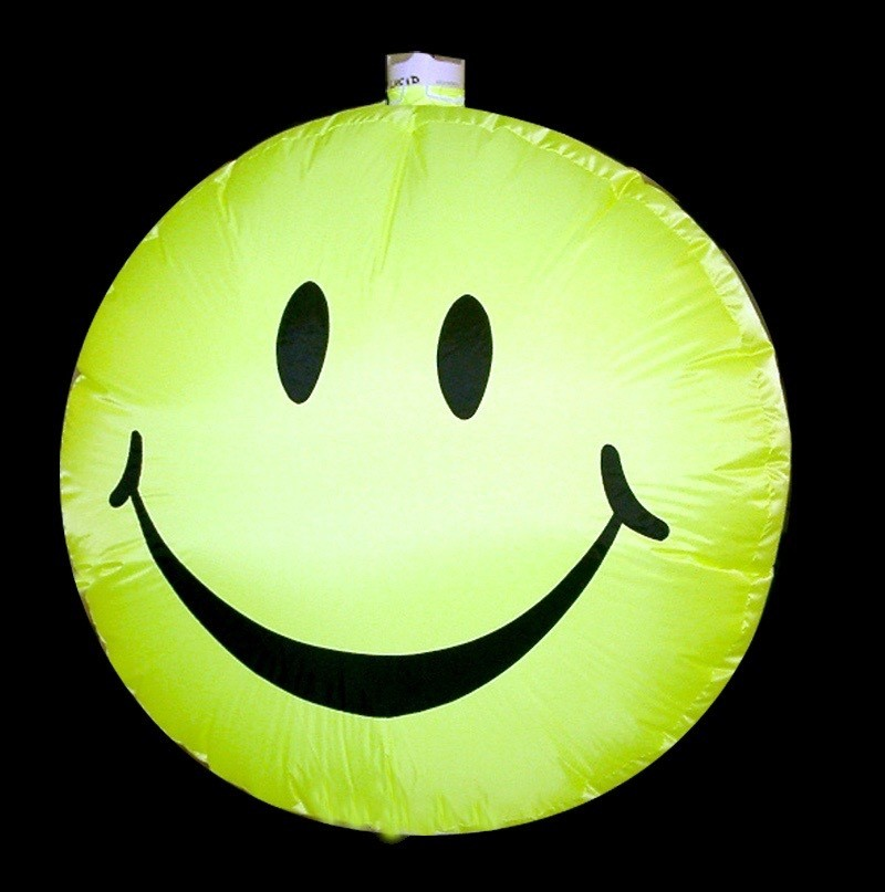Hanging inflatable Smily Disc 5ft/152cm x 5ft/152cm