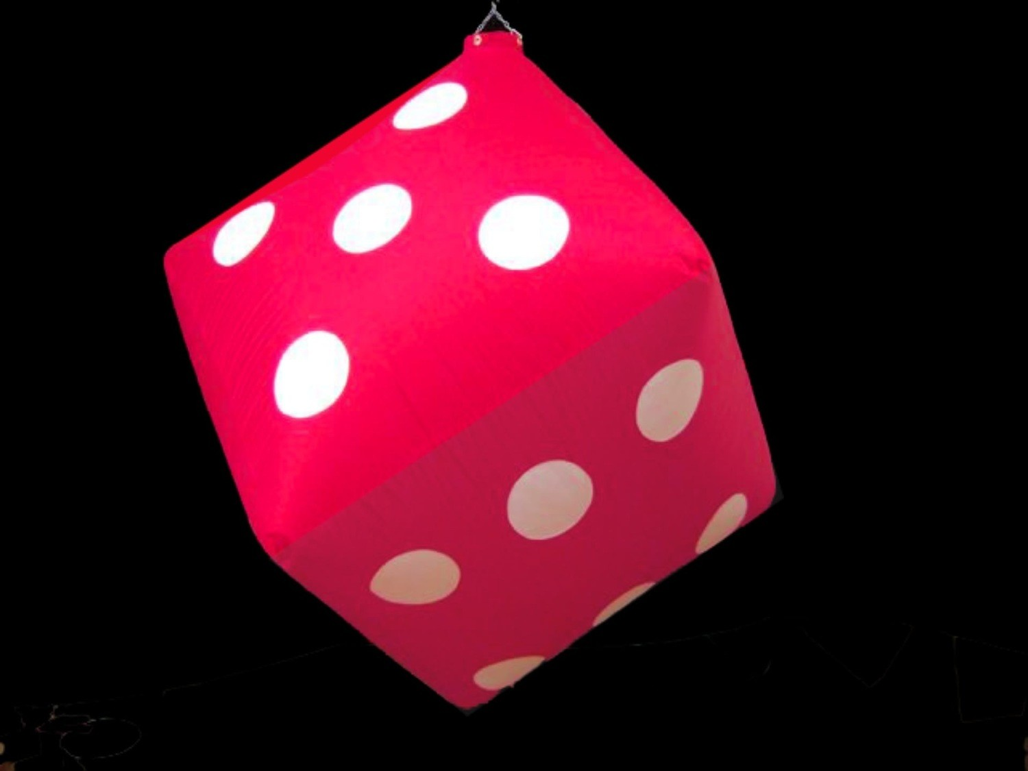 Hanging Inflatable Dice 4ft/122cm x 4ft/122cm