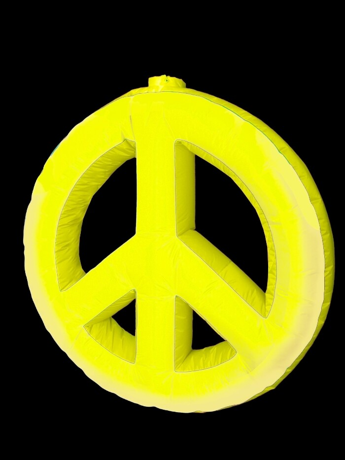 Hanging Inflatable Peace Symbol 5ft/152cm x 5ft/152cm
