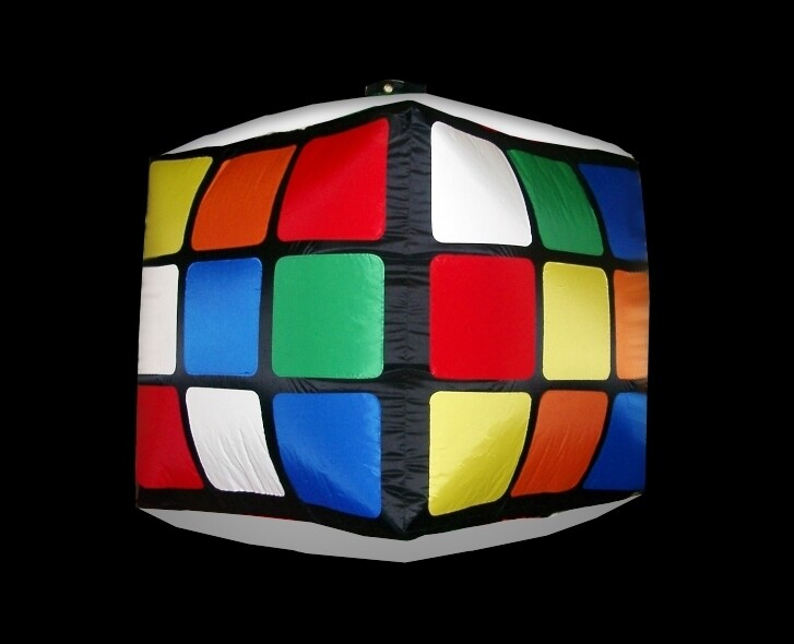 Hanging Inflatable Rubiks Cube 3ft/91cm x 3ft/91cm