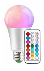 Extra Colour RGB LED Bulb 10w with remote control
