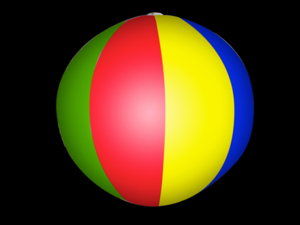 Hanging Inflatable Beach Ball Stripy Spheres 3ft/91cm diameter (8 Section)