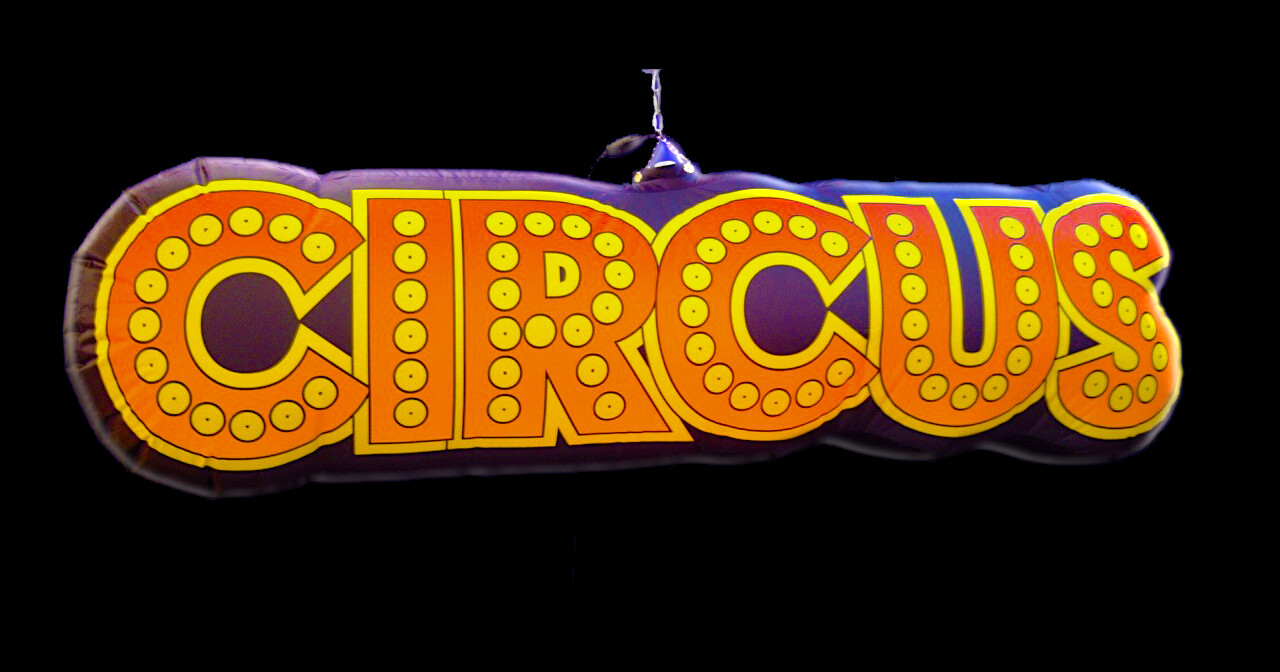 Hanging Inflatable Circus Sign 10ft/305cm x 3ft/91cm