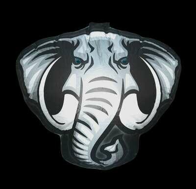 Hanging Inflatable Elephant Head 2.8ft/85cm x 2.5ft/75cm