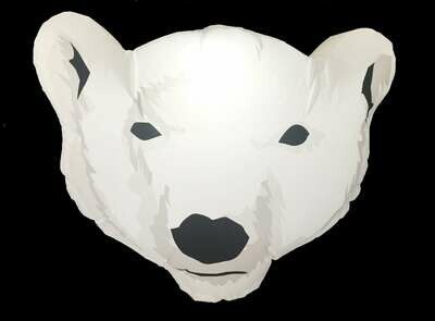 Hanging Inflatable Polar Bear Head 6.3ft/192cm x 5ft/152cm