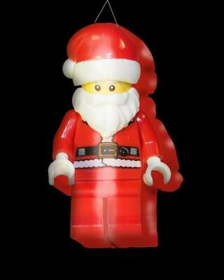 Hanging Inflatable Santa Toy 2.5ft/75cm x 4.5ft/136cm