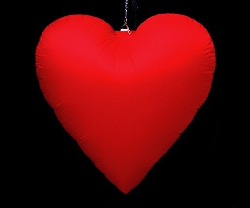 Hanging Inflatable Heart 3.5ft/108cm x 3.5ft/108cm