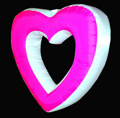 Hanging Inflatable Hollow Heart 5ft/152cm x 5ft/152cm