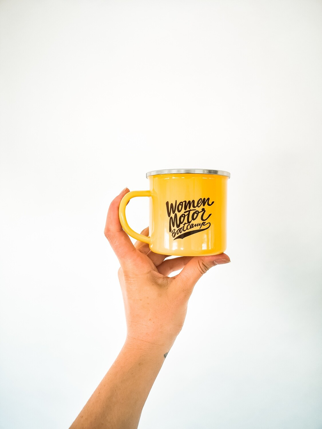 Camping Metal Cup Yellow
