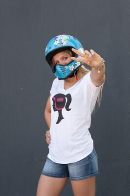 Helmet with a Ponytail WMB Tshirt
