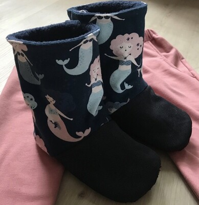 Mermaid soft sole boots