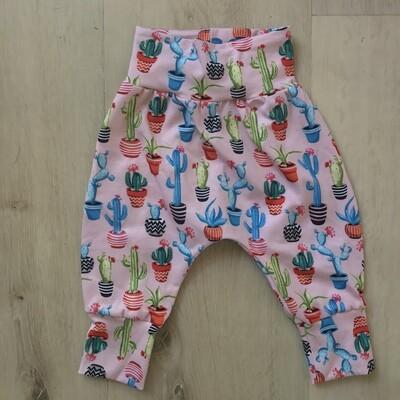 Pink cactus harem pants